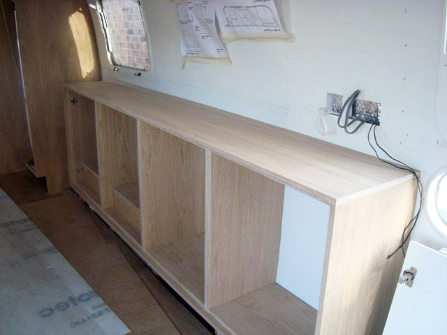 Airstream fitted furniture
