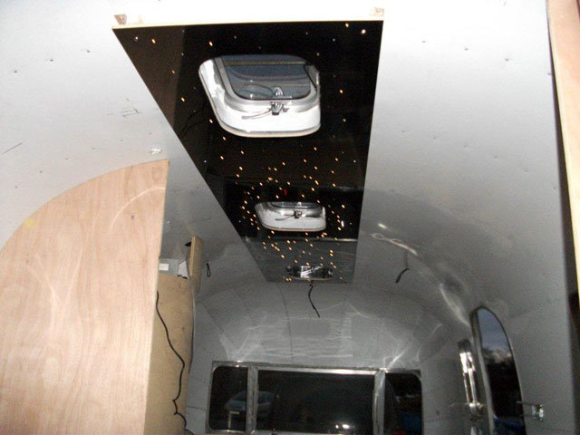 Airstream star ceiling