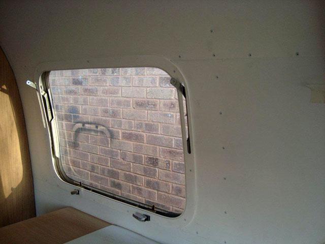 Airstream window frame