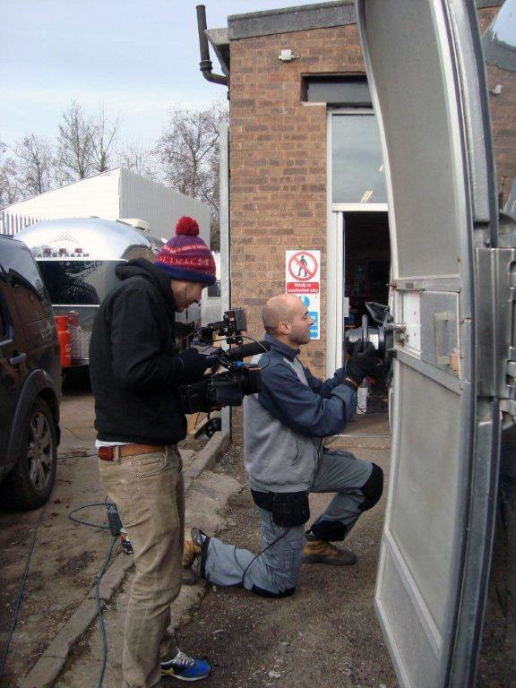 polishing an Airstream