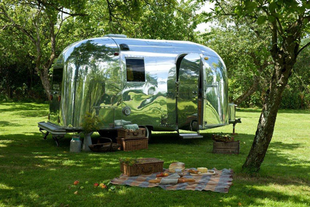 Highly polished Airstream