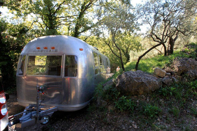 an Airstream in France