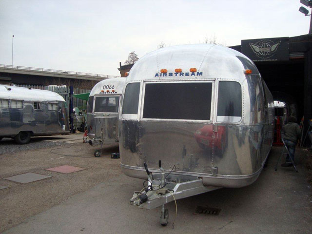 airstreams in the workshop