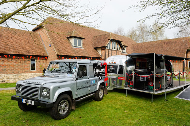Airstream and Land Rover