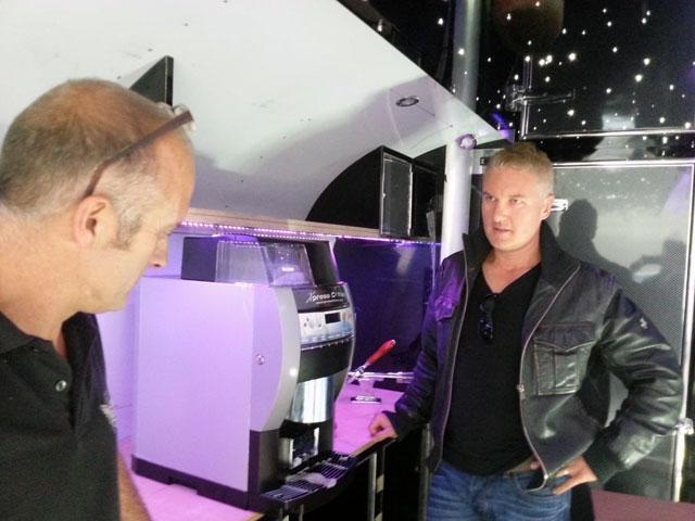 Darren in the Airstream Bar