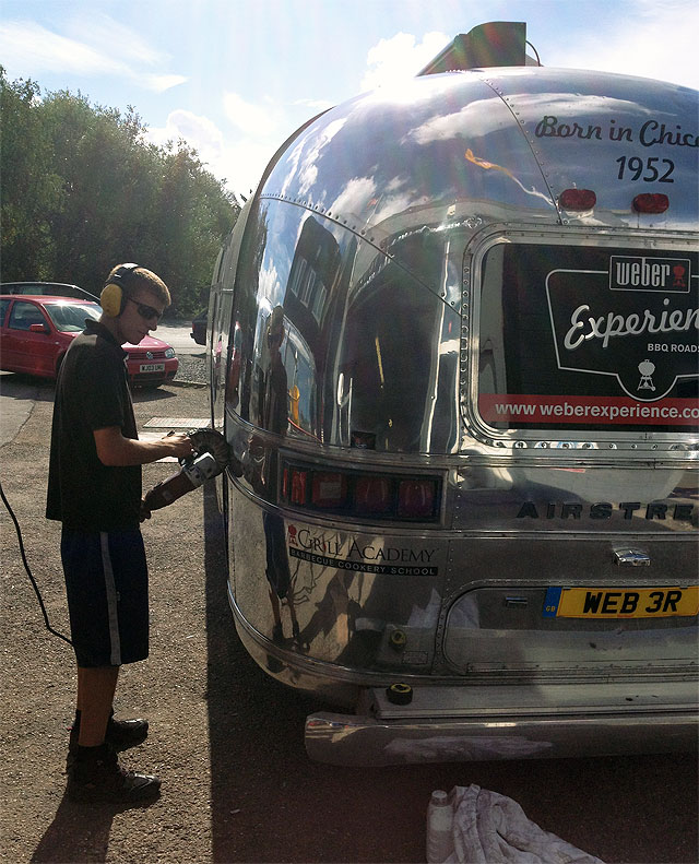 the Weber Airstream gets a polish