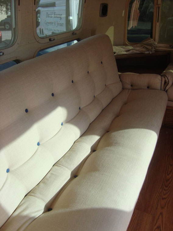 Airstream upholstery