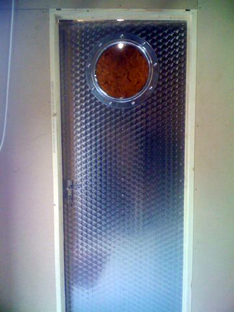 office door at the airstream workshop